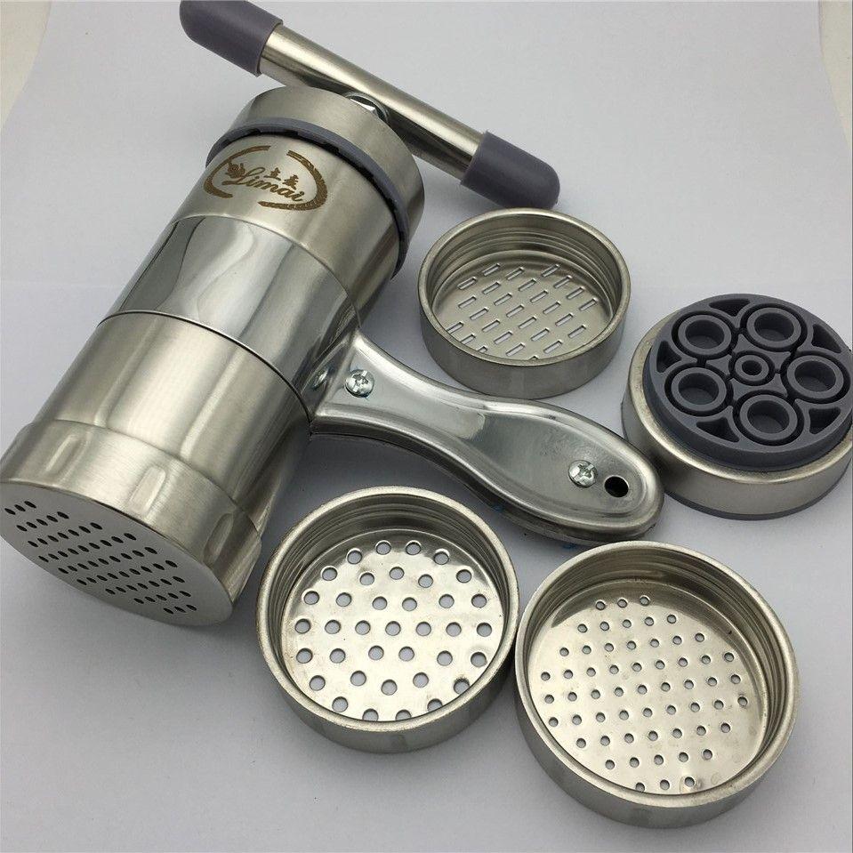 Machine à nouilles cuisine en acier inoxydable presse à pâtes Spaghetti Machine à fruits presse-agrumes manuel pâtes nouilles Machine faire
