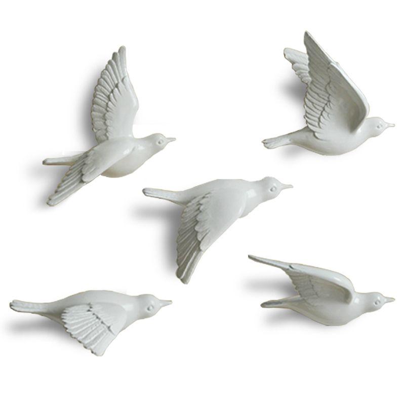 3D смолы голубь мира птицы Настенная Home Decor чистый цвет бренда фестиваль/свадьба фоне стены качества творческой висит украшения