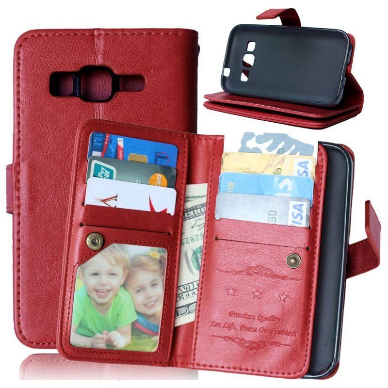 Wallet Flip Leather Case For Samsung Galaxy Core Prime G360 G360F G360H G361 G361F G361H SM-G361H SM-G360H SM-G361F Stand Cover