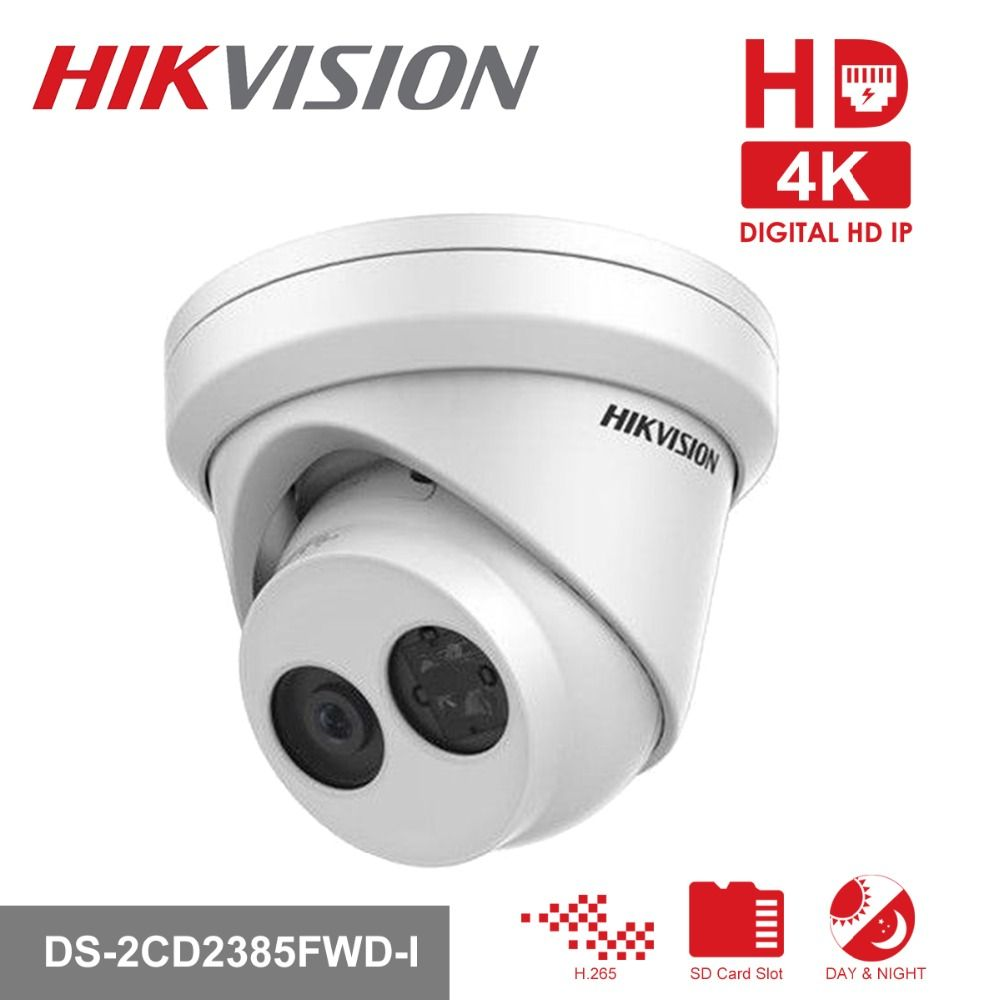 Original Hikvision CCTV Camera 8MP Network Turret Security Camera DS-2CD2385FWD-I HD IP Camera built-in SD Slot