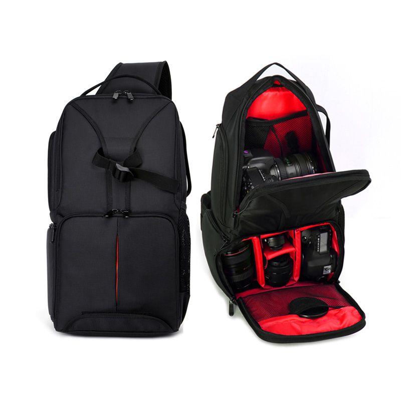 ALLOET Waterproof Multifunction Digital SLR DSLR Camera Video Bag Sling Shoulder Camera Backpack W/ Rain Cover For Nikon Canon