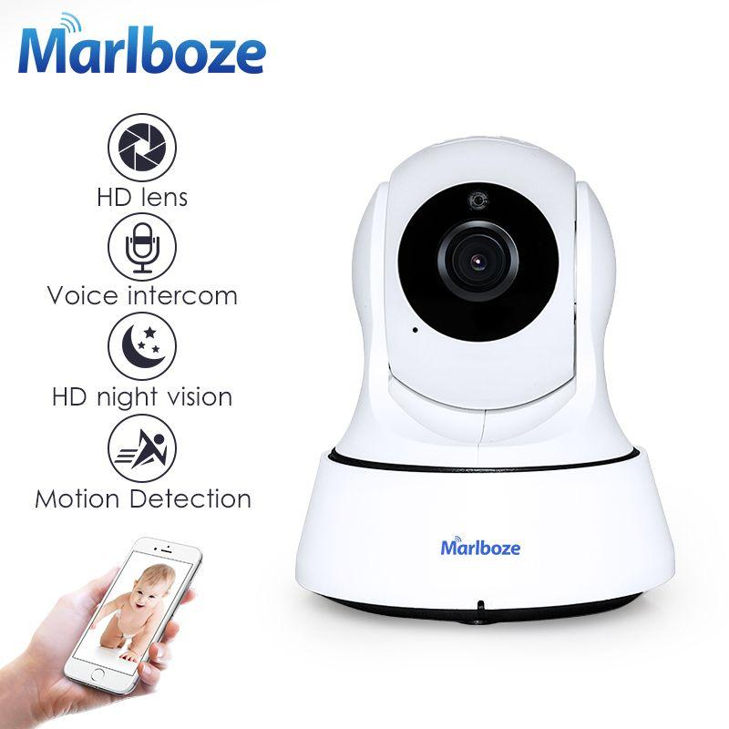 Marlboze 720P HD Wireless Wifi IP Camera Home Security Surveillance Camera <font><b>Onvif</b></font> P2P IR-Cut P/T Night Vision CCTV Indoor Camera