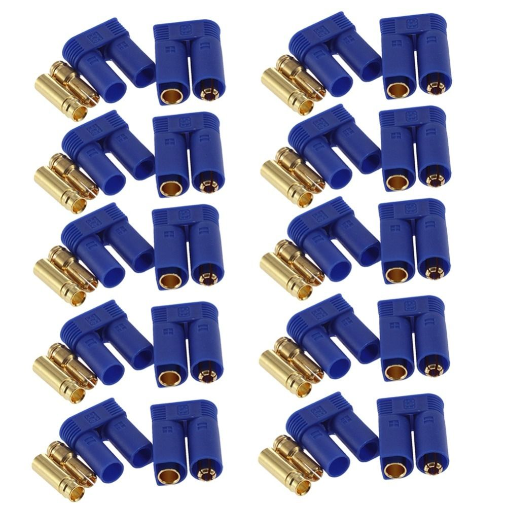60pc 10 Pairs EC5 Device Connector Plug 5mm Banana plug for RC Plane Multicopter Quadcopter Airplane Helicopter RC plug parts
