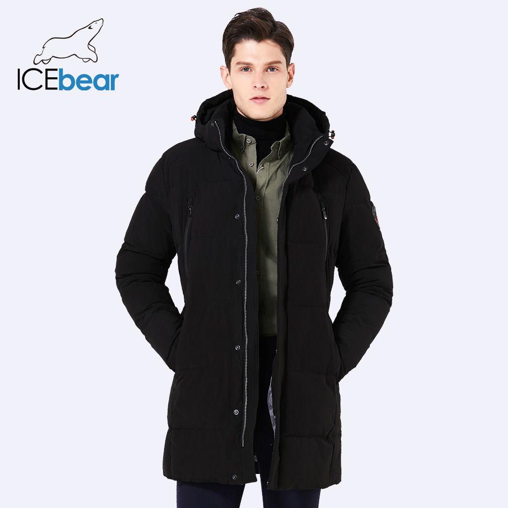 ICEbear 2017 Winter Jacket Men Slim Thick Warm Top Quality Waterproof Zipper Clothes For Men Winter Coat Man 17MD942D
