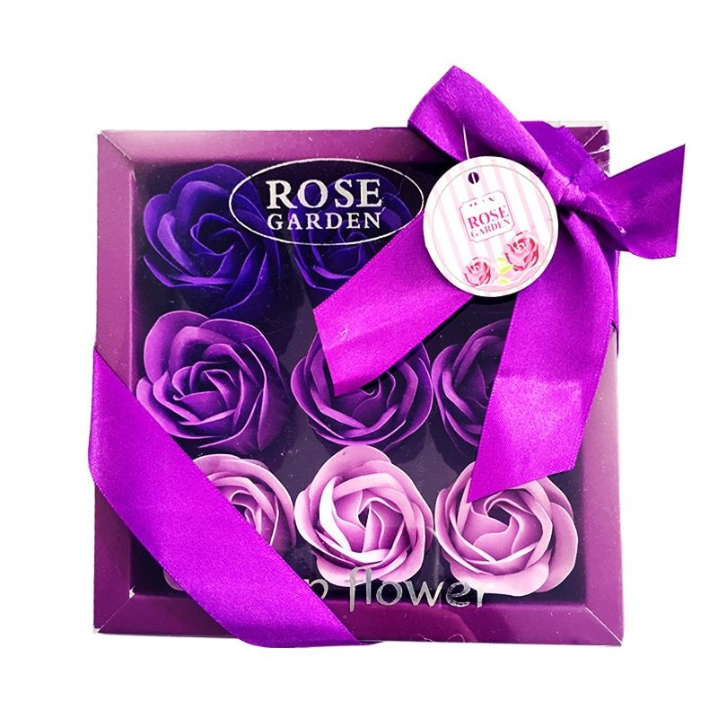 Rose Soap Gift Rose Petals Bathing Soap With Gift Box 2018 New Valentine's Day Romantic Gift by Handmade Christmas Gift