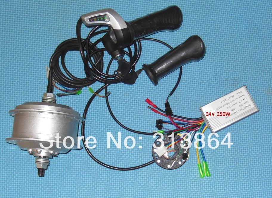 Elektro-fahrrad Umbausatz enthalten 24 V 250 Watt hinterrad motor, WuXing gas, PAS, Li-ion bldc controller