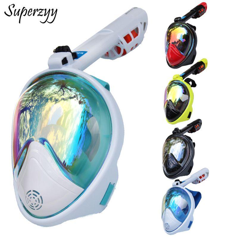Masque de plongée intégral Anti-buée masque de plongée sous-marine masque de chasse sous-marine enfants/adultes lunettes équipement de plongée d'entraînement