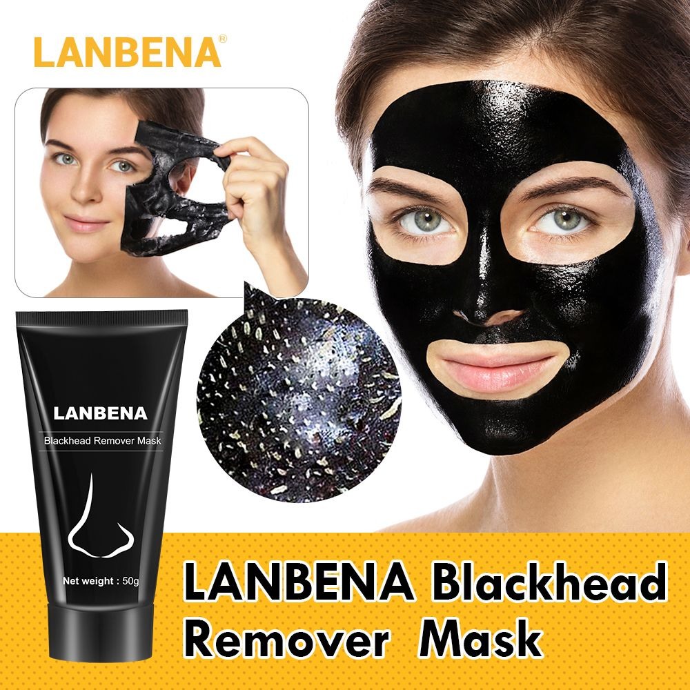 LANBENA Blackhead Remover Nose Black Mask Face Care Mud Acne Treatment Peel Off Mask Pore Strip Skin Care Peel Mask Oil Control
