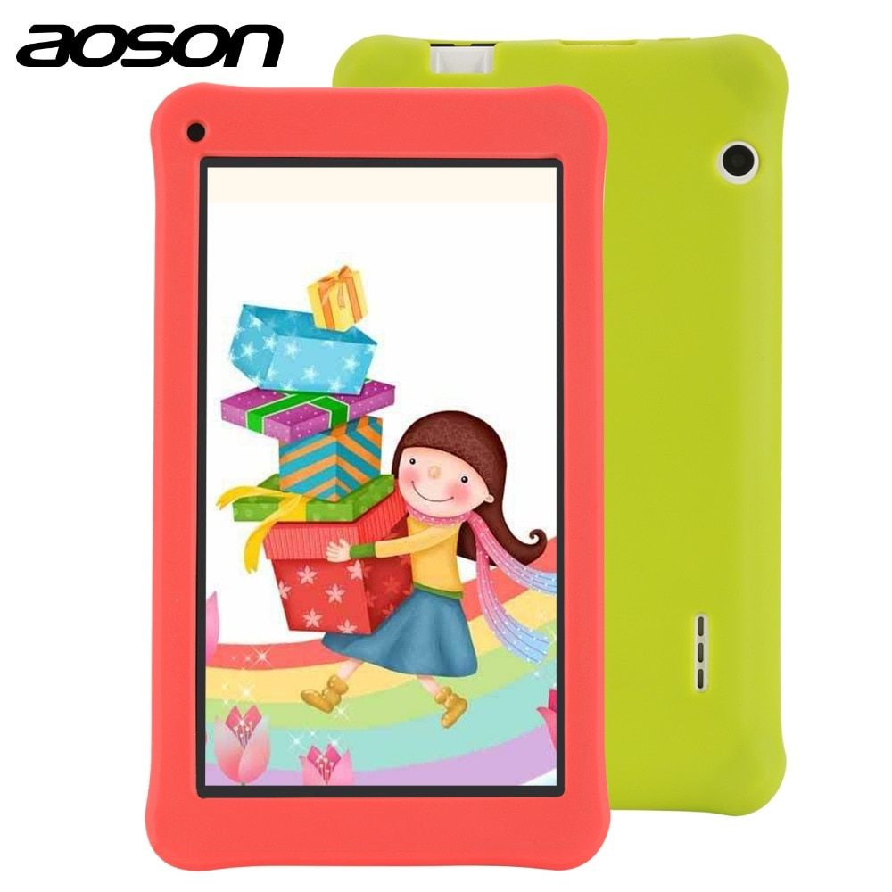 Education drawing tablet Aoson 7 Inch Kids Tablet with case 1GB 16GB Quad Core HD Android 7.1 Tablet 1024*600 with Kids Software