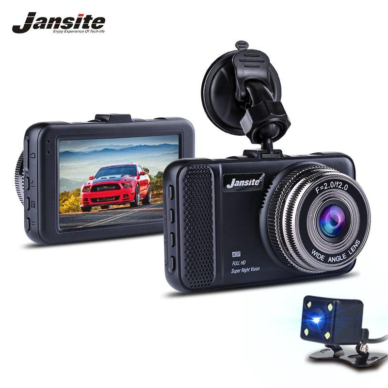 Jansite 3 inch Car Dvr detector Mini Camera Dual Lens DVR Digital Video Recorder Auto Camcorder Dash Cam FHD 1080P Night Vision