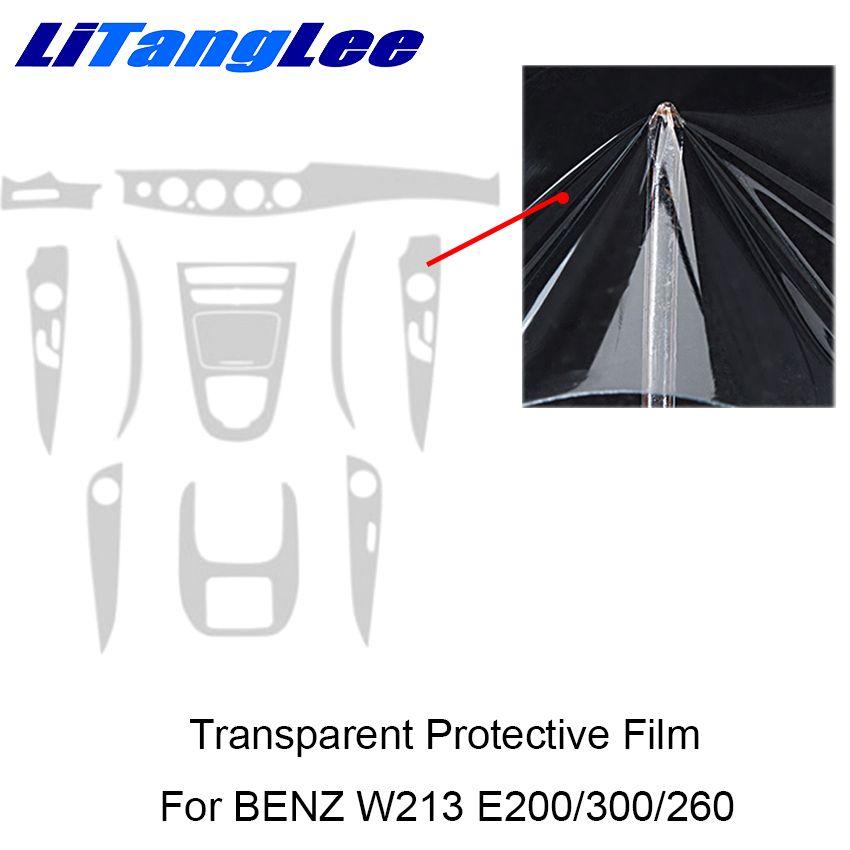 Litanglee For MERCEDES W213 E200/300/260 Car Styling Full Set Interior Sticker TPU Center Console Transparent Protective Film
