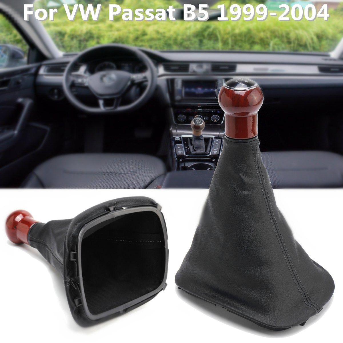 5 Speed Shifter Schaltknauf Gamasche Boot Abdeckung Für VW Passat B5 Golf JETTA 1999-2004
