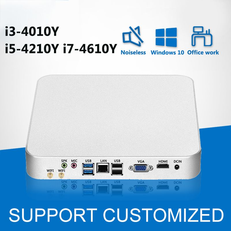 Mini PC Barebone Intel Core i5 4210Y i3 4010Y Windows 10 Mini Computer NUC Nettop Desktop minipc HD Graphics 4200 WIFI HDMI HTPC