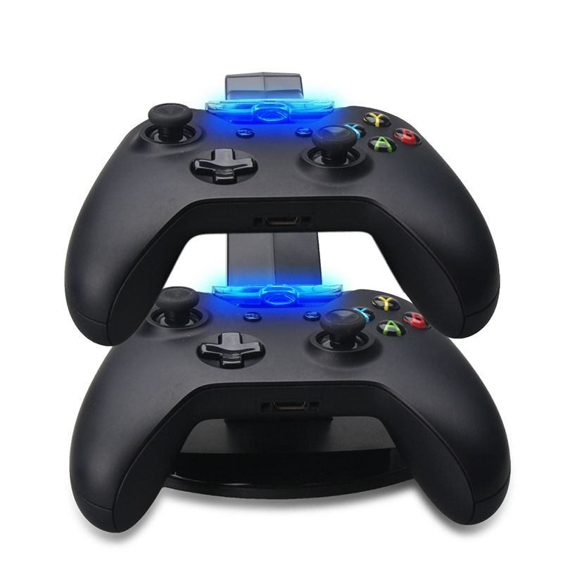 Charging Stand for Xbox One Stand Controller USB LED Charging Adapter Stand for Gamepad Dock Station Dual Adapter Full Charger