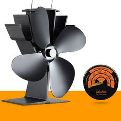 Stove Thermometer + Best Seller Eco Wood Stove Fan Heat Powered Stove Fan