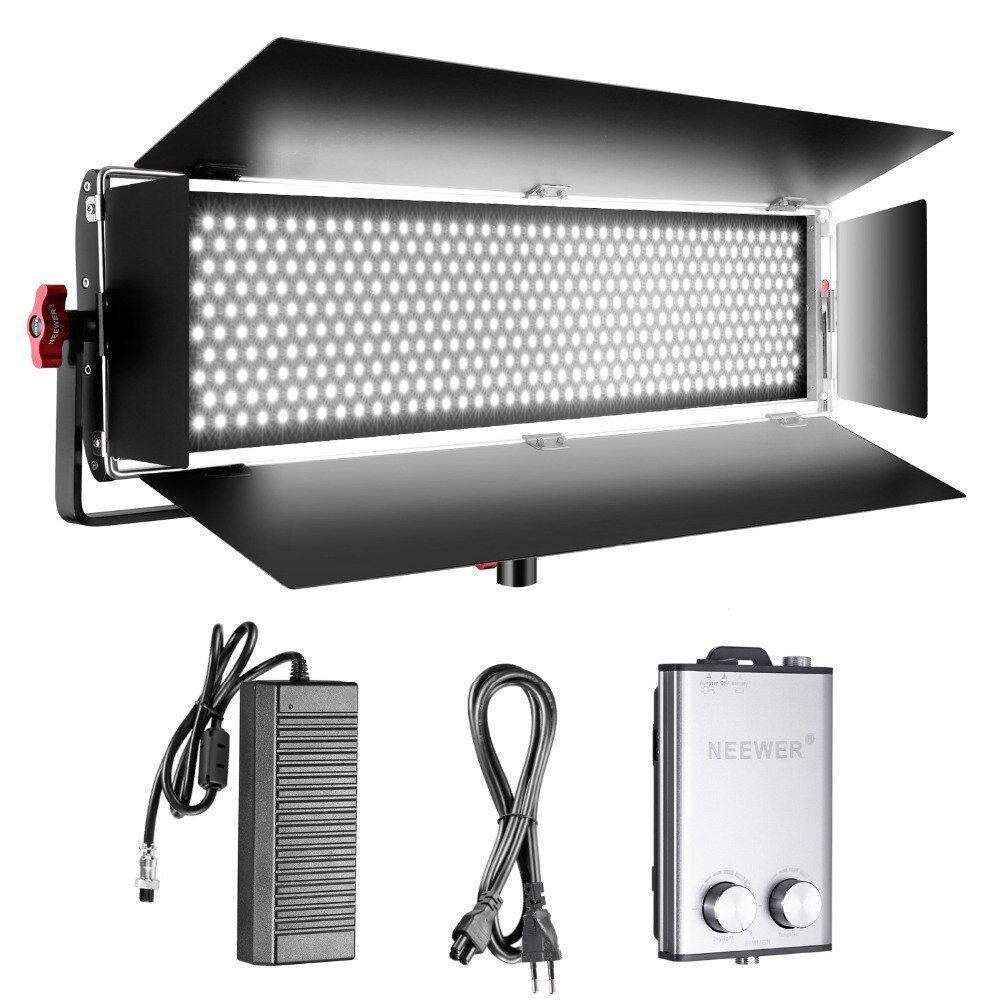 Neewer Dimmable Bi-color SMD LED Lamp Video Lamp+U Mounting for Studio Youtuber Product Studio Photography 110V-240V EU Plug