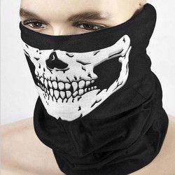 Пугающая маска для Хэллоуина фестиваль Череп маски для век скелет Открытый Мотоцикл Велосипедный спорт мульти-маски шарф половина уход за ...