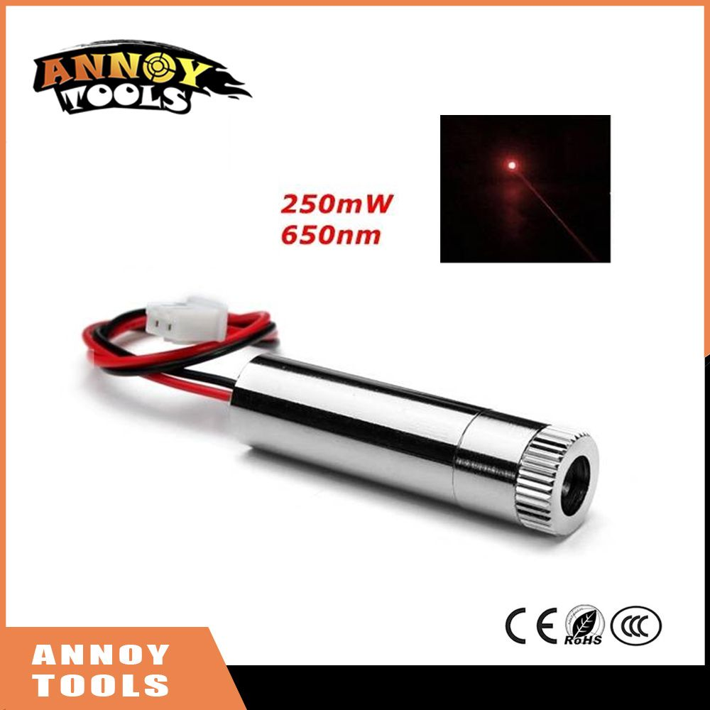 Red laser dot  module 250mW 650nm High power laser with focusing DIY engraving machine Laser head