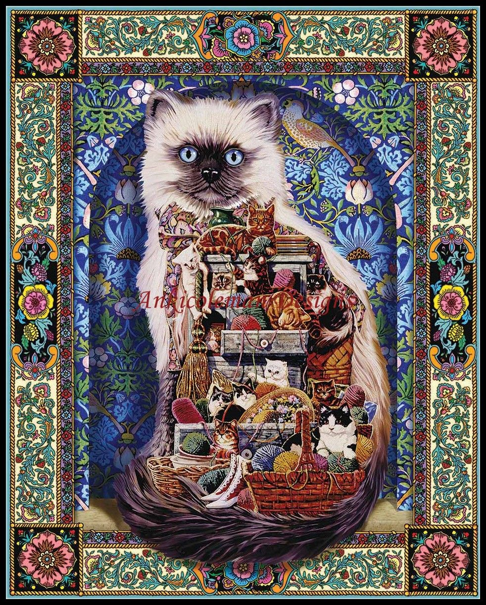 Needlework for embroidery DIY French DMC High Quality - Counted Cross Stitch Kits 14 ct Oil painting - Cats Galore