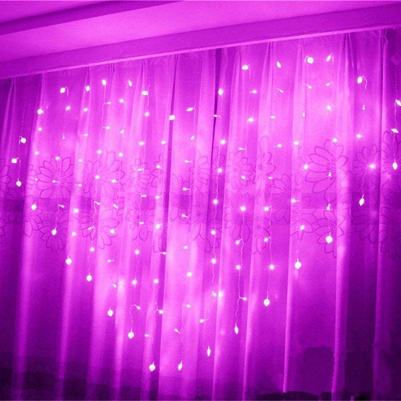 В форме сердца светодиодные Фея Строка занавес света 2 м * 1.5 м 124 светодиоды Валентина Рождество свадьба окно Гирлянда Декор