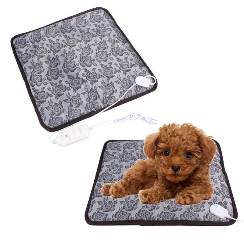 110V/220V Pet Dog Mat Waterproof Electric Heating Pad Mat Heater Bed Warmer Blanket for Dog Puppy Winter Pet Bed Random sent