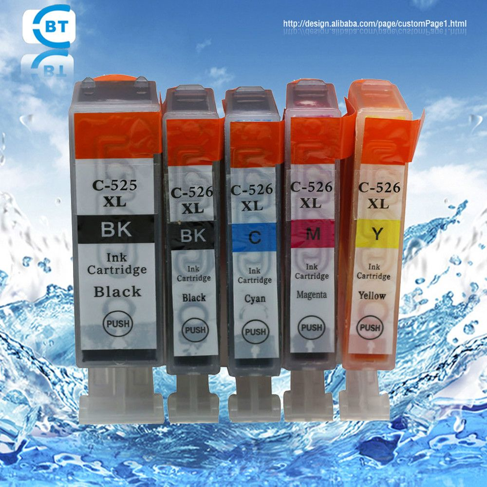 5 color 1set for canon pgi-525 cli-526 compatible ink cartridge
