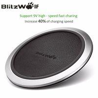BlitzWolf Qi Беспроводной Зарядное устройство рабочего мобильный телефон Зарядное устройство 9 В быстрой зарядки площадку для samsung S8 + S7 S7 край см...
