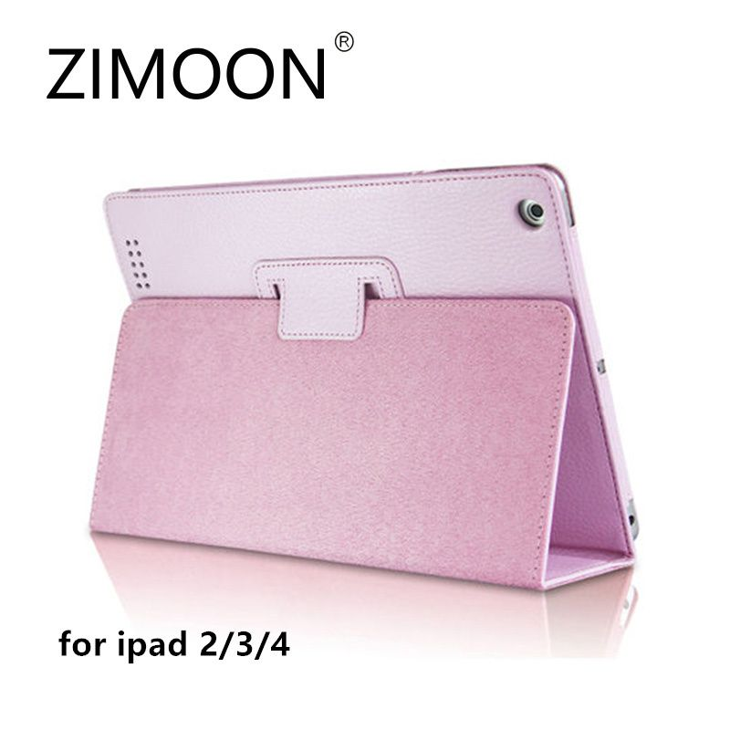 Zimoon For Apple iPad 2 3 4 Case Magnetic Auto Wake Up Sleep Flip PU Leather Cover With Smart Stand Holder Folio Case