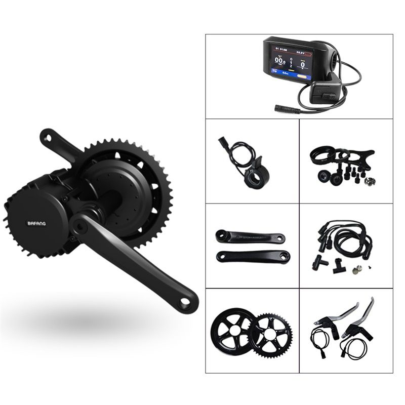 Electric Bike Middle Engine Kit 48V 1000W 42T 44T 46T Bafang 8Fun BBS BBS03 BBSHD Mid Drive Motor Conversion Kit with Display