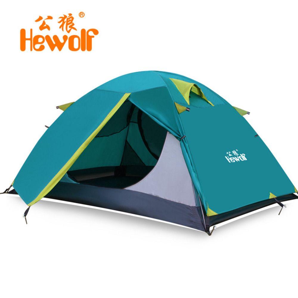 Hewolf 2 Person Zelte Camping Zelte Doppelschicht Wasserdicht Winddicht Im Freien Zelt Für Wandern Angeln Jagd Strand Picknick Party