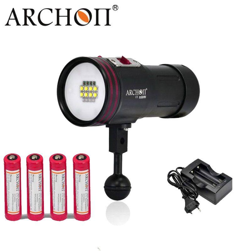 100% Original ARCHON D36VR W42VR Update D36V W42V U2 UV Multifunction Underwater Photographing Sea Diving Flashlight Video Light