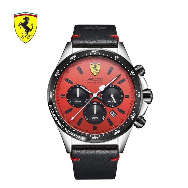 SCUDERIA FERRARI Brands Men's Watch Europe Fashion Watch Men's Atmosphere Fashion Business Chronograph Waterproof Watch 0830387