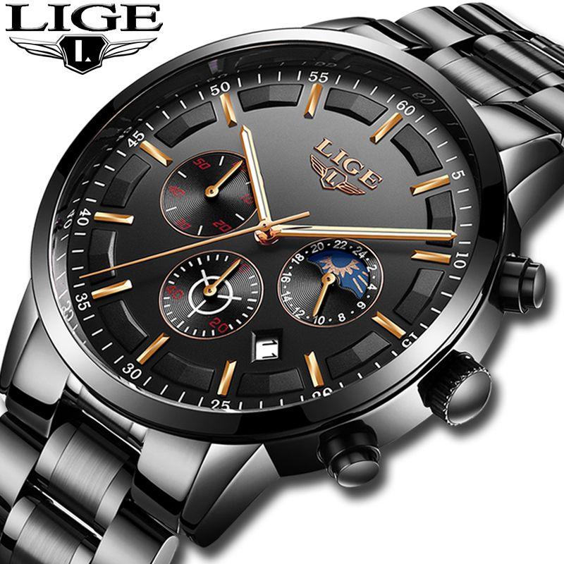 Montres 2018 Montre Hommes LIGE De Mode Sport Quartz Horloge Hommes Montres Top Marque De Luxe D'affaires Montre Étanche Relogio Masculino