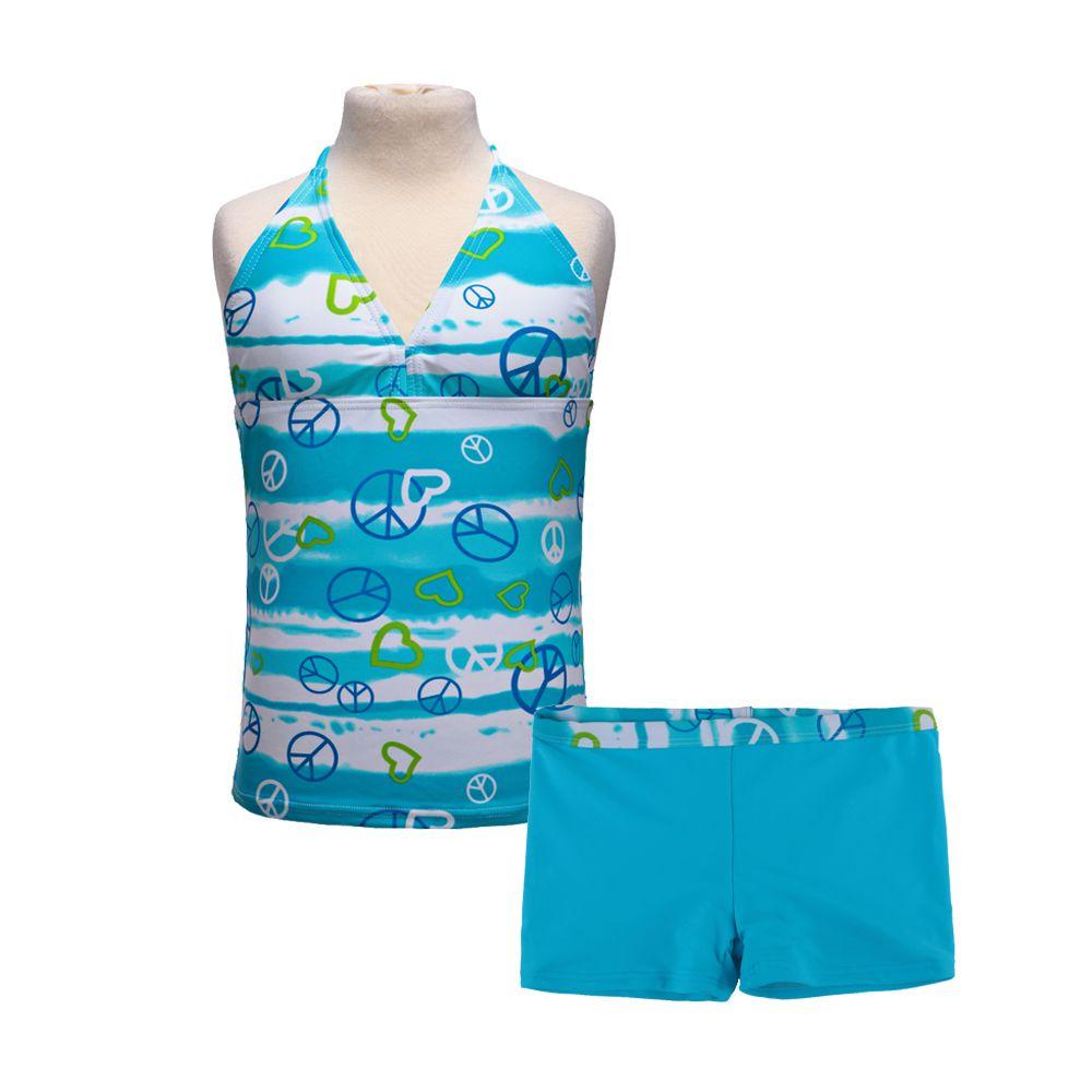 2018 2Pcs Girls 6Colors Swimwear Bikini Swimsuit Kids Ruffled Swimming Suit for Girl Children Bathing Suit Sz8-16Y Tops+Shorts