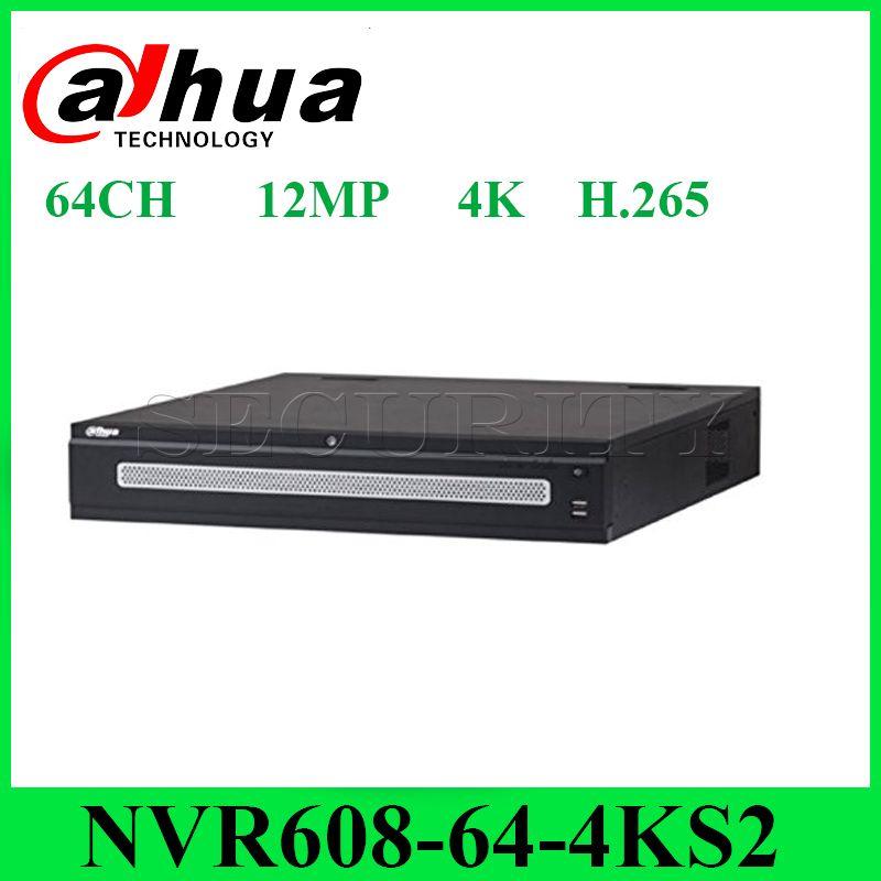 Dahua NVR608-64-4KS2 Netzwerk Video Recorder 64 Kanal Ultra 4 karat H.265 bis zu 12MP mit 8 SATA Interface Express Versand