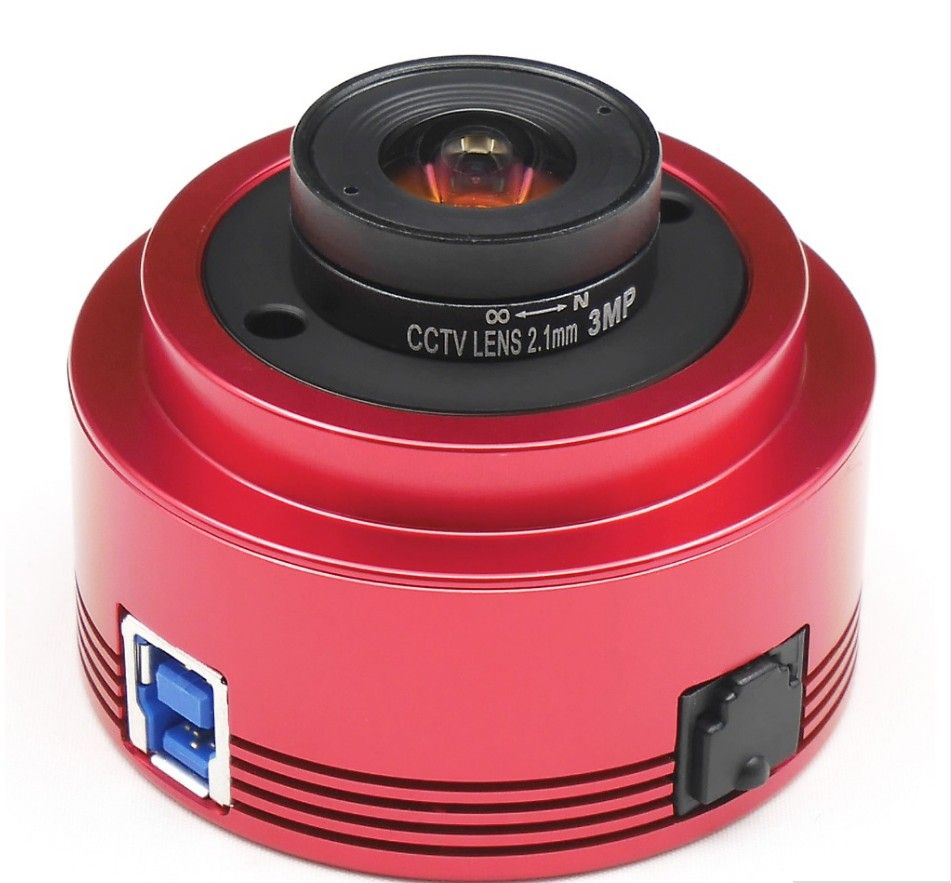 ZWO ASI224MC color camera planetarium astronomy solar lunar imaging high-speed driving usb3.0