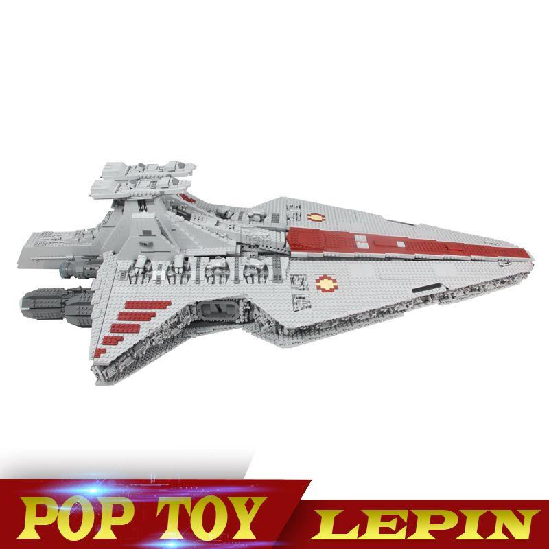 N STOCK Lepin 05077 6125Pcs Gift The UCS Rupblic Star Destroyer Cruiser ST04 Set Building Blocks Bricks Toys