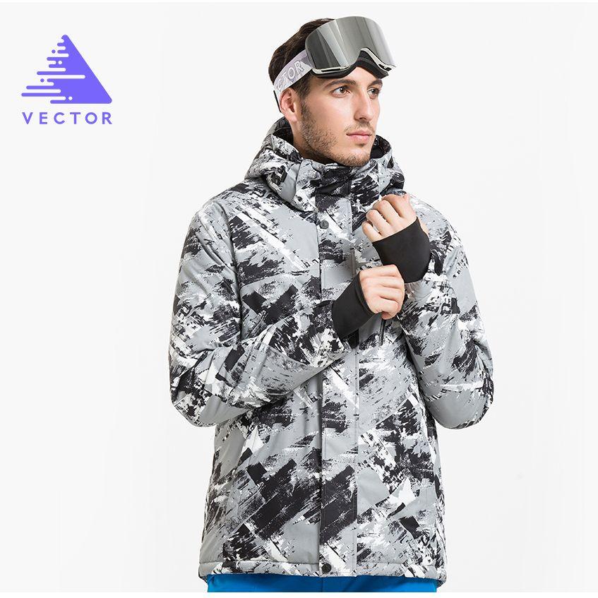 VECTOR Brand Winter Ski Jackets Men Outdoor Thermal Waterproof Snowboard Jackets Climbing Snow Skiing Clothes HXF70002