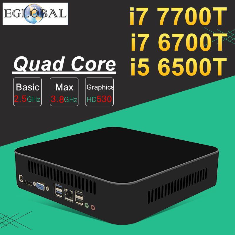 Intel Core i7 7700T 6700T i5 6500T Desktop CPU Quad Core Strong Mini PC Game Computer Nuc 1*HDMI 1*VGA 5G AC Wifi Bluetooth 4.0
