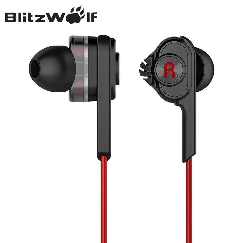 BlitzWolf 3.5mm Filaire Écouteurs Avec Micro Dans L'oreille Écouteurs Écouteurs Avec Microphone Universel Pour Samsung Pour iPhone 6 s Smartphone