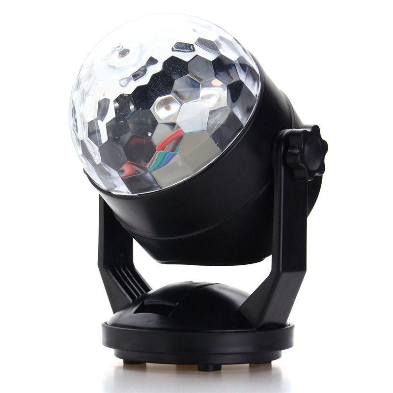 Auto LED RGB Bühne Licht Stimme Klangregelung Nacht Lampe USB Batterie Magic Ball Disco Kristall DJ Club Bar Party Decor