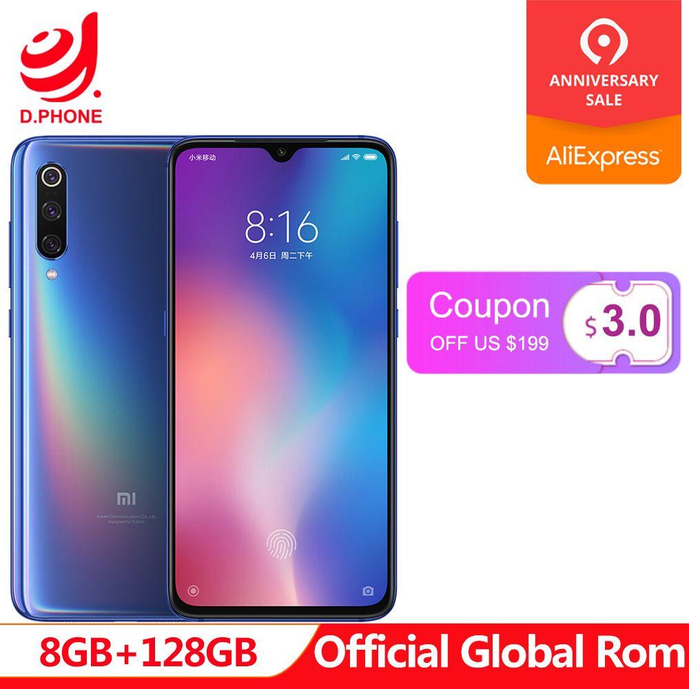 Offizielle Globale Rom Xiao mi mi 9 8 GB RAM 128 GB ROM mi 9 Telefon Snapdragon 855 Octa Core 6,39 AMOLED Voll Bildschirm 48MP Smartphone