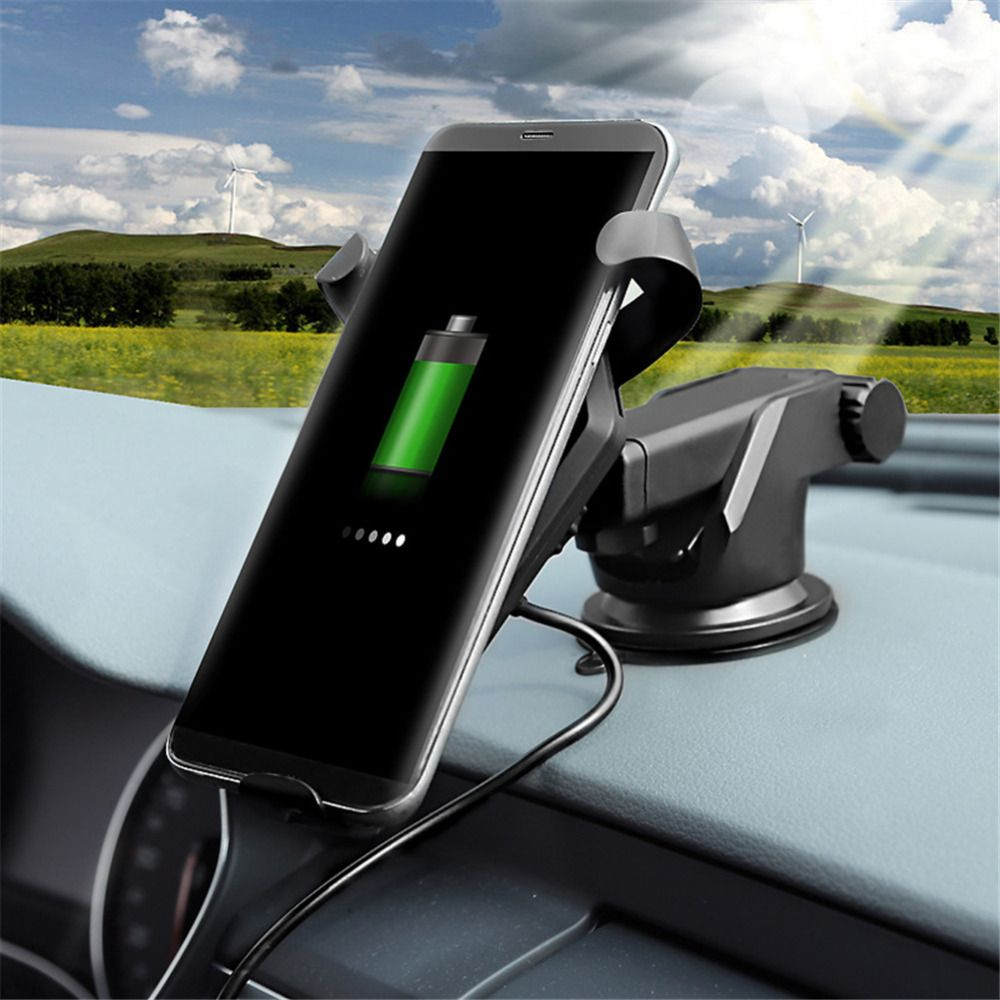 Airvent/On-board Car Holder 10W Qi wireless Fast Charge Stand datawire for iPhone 8 iPhone X/Samsung Android cellphone Devices