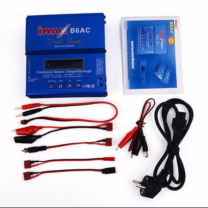 Chargeur de batterie 80 W IMAX B6AC RC Balance Lipo B6 AC Nimh Nicd batterie AU lithium + fil d'alimentation EU/US/UK/AU livraison gratuite