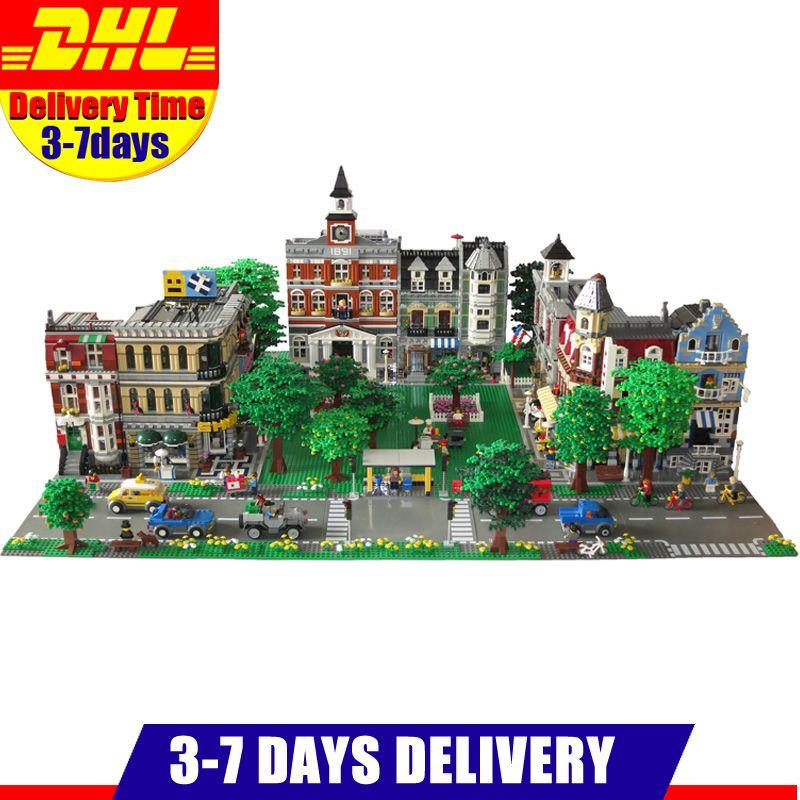 DHL LEPIN ville rue ville café coin pompiers Grand Emporium vert épicier 15035 15034 15031 blocs Kits de construction briques