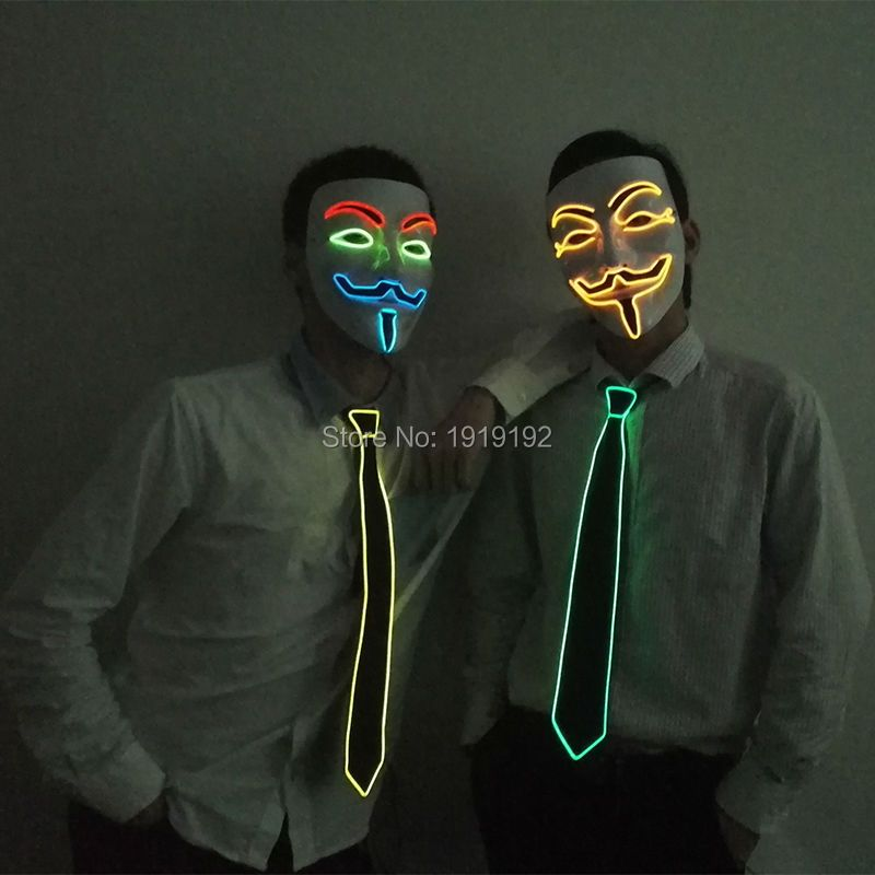 Le film de Vendetta el fil Masques Cosplay MASQUE Costume anonyme masque pour Rougeoyant Partie de danse Carnaval Masques Par DC-3V pilote