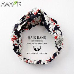 Noeud Bandeaux De Mode Filles Tête Bande Vacances Impression Foral Turban Hairband Élastique Wrap Cheveux Femelle Bandeau Cheveux Chapeaux