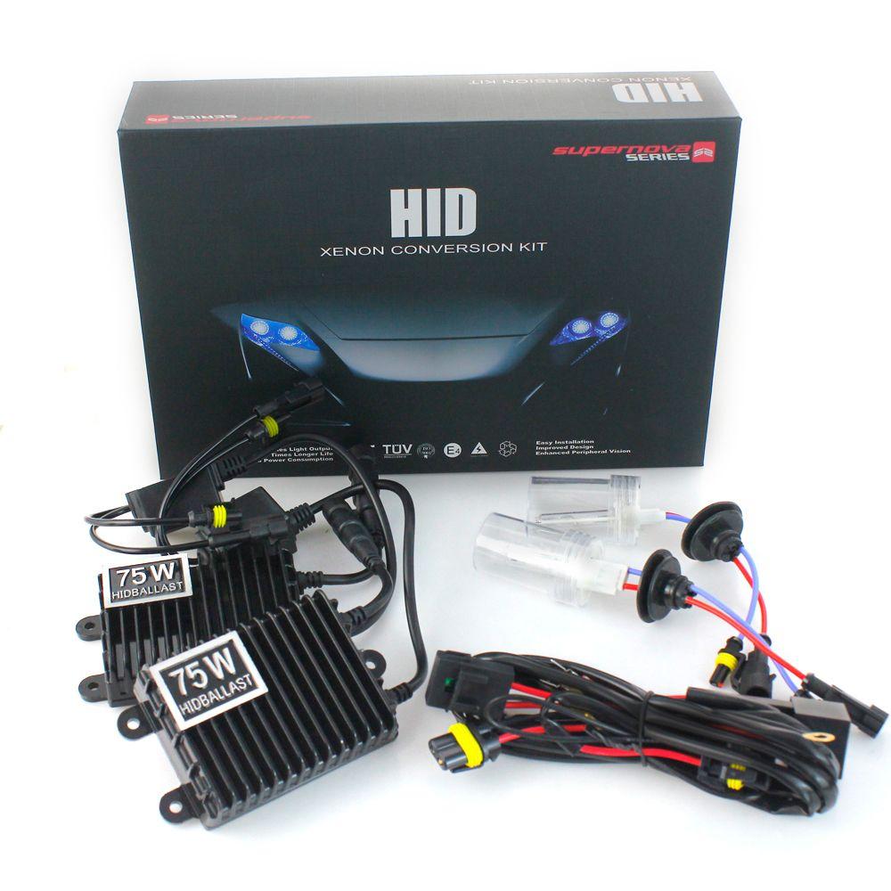 75W/100W HID Xenon Conversion Kit H1 H3 H7 H11 HB3 HB4 Single Xenon Light 3000K 4300K 5000K 6000K 8000K 10000K 12000K Car Light