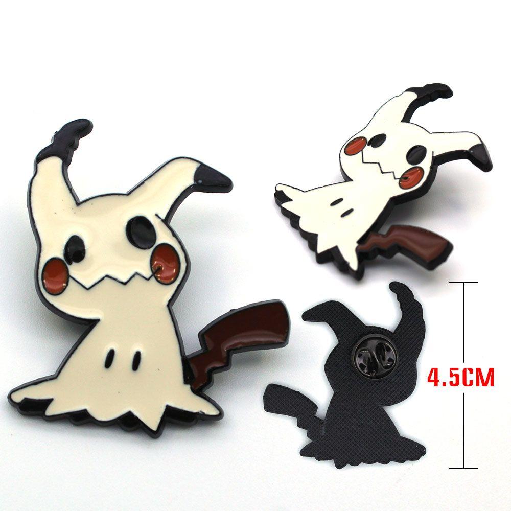 4,5 cm Spiel Tasche Monster Pokemon Mimikyu Metall Abzeichen Pin Brosche Brust Taste Ornament Cosplay Sammlung Otaku Geschenke Nette