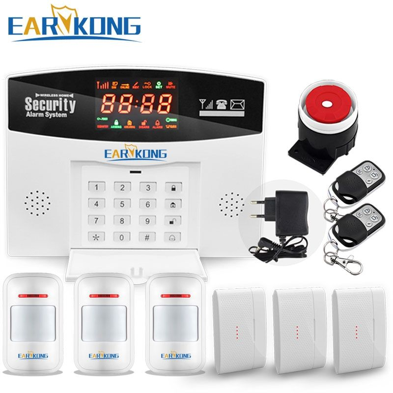 2018 Wireless Home Burglar GSM Alarm System, Security Guard M3D, Support Relay Smart Home Control, <font><b>Voice</b></font> Prompt, Free Shipping